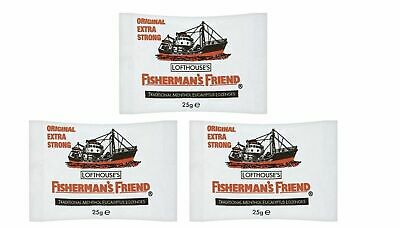 Fisherman's Friend Original Extra Strong Menthol Cough Lozenges 3 Packs