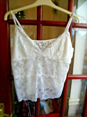 Sale * Damart Ladies Ivory Lacy Lovely Strappy Camisole Top Size 22 * Sale