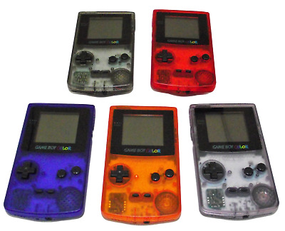 Nintendo Gameboy Color Console GBC 5 Transparent Funtastic Colors to Choose From