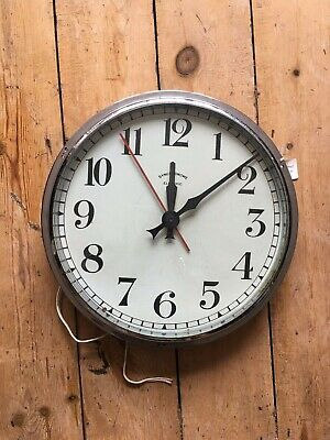 Vintage Synchronome Electric Mains Wall Clock