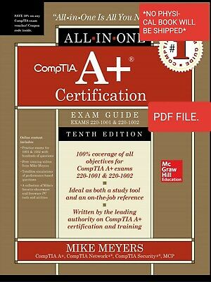Comptia A+ Certification All-In-One Exam Guide 220-1001 220-1002 (Read Descripti