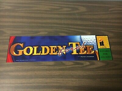 Golden Tee Fore! Video Arcade Game Marquee, Incredible Technologies 2002