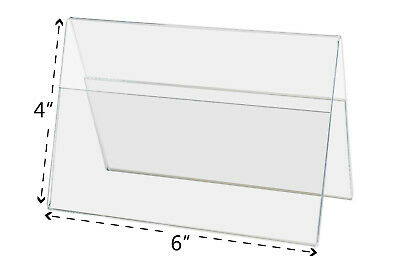 "A Frame Sign Holder 6""W x 4""H Double Sided Table Tent Ad Frame Display Qty 6"