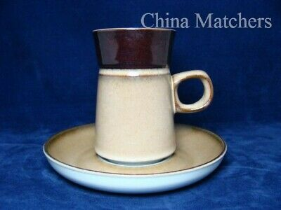 Denby Country Cuisine Large Coffee Cup & Saucer, VGC