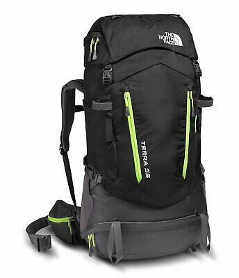 The North Face Youth Terra 55 Backpack (TNF Black/Wild Lime)