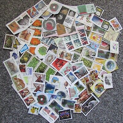 Mixed World Stamps On Paper - Lot 8