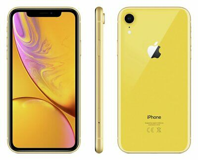 Sim Free iPhone XR 6.1 Inch 64GB 12MP Dual Camera 4G 4K Mobile Phone - Yellow