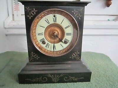 Antique Ansonia Striking Mantel Clock In Very Good Working Order
