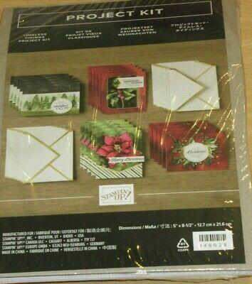 Stamping Up Timeless Tidings Card Kit - makes 20 cards