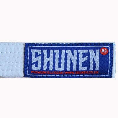 Shunen Adult BJJ Belts all Colours and Sizes with Rank Bar