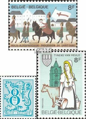 Belgium 2142,2143,2152 mint never hinged mnh 1983 special stamps