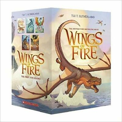 Wings of Fire Boxset, Books 1-5 (Wings of Fire) by Tui T. Sutherland PAPERBAC...