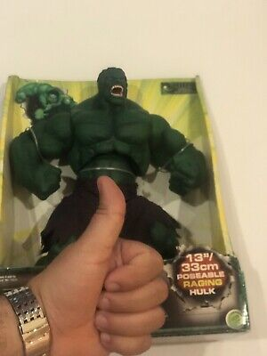 """Hulk  13"""" Poseable Official Movie Merchandise By Toy Biz Marvel 2003 -LAST ONE-"""