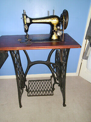 Antique Victorian Singer Sewing Machine with cast iron base Very Good Condition
