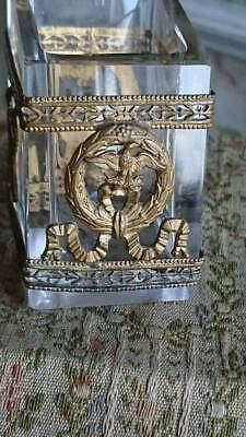 DIVINE ANTIQUE FRENCH INKWELL PEN STAND ORMOLU & GLASS Circa 1890
