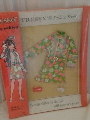 Vintage Palitoy Tressy Second Issue 1960's Spring Flowers Outfit New NRFB NEW