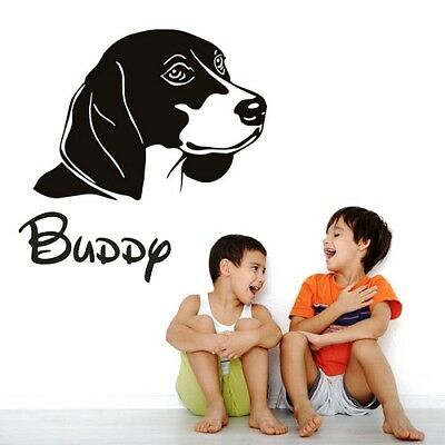 Dog Name Wall Stickers Personalised For Pet  Vinyl  Names Decal Animals