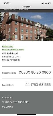 The Holiday Inn London-Heathrow T5..August 29Th 2019..1 Night For Up To 2 Adults