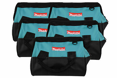 """Makita 14""""Tool bag with reinforced handles, interior and exterior pockets 5 Pack"""