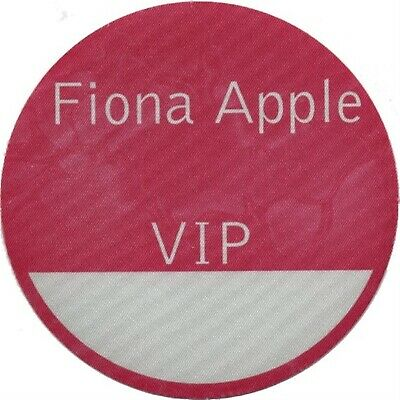 Fiona Apple authentic 1997 Tidal Tour satin backstage pass VIP pink