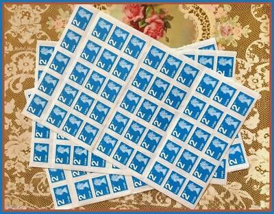 NEW & 100% Genuine 100 2nd Second Class Large Stamps Sheets Self Adhesive
