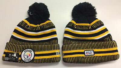 2019 Pittsburgh Steelers New Era Knit Hat On Field Sideline Beanie Stocking Cap