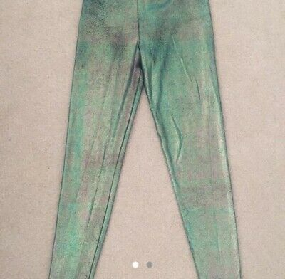High Waisted Foil, Oil Slick Effect Leggings Size 8-10