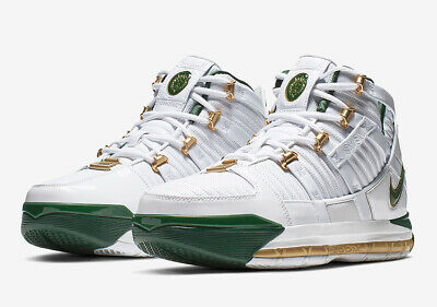 best sneakers b0cc2 816bc NIKE ZOOM LEBRON James Soldier 12 XII SVSM HOME GREEN WHITE ...