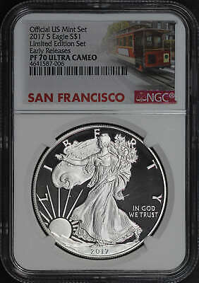2017-S Silver Eagle Limited Edition Set Early Release NGC PF70UC No Spots-182537