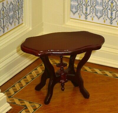 Fantastic / Bespaq Mahogany Side Table - Dollhouse Miniature