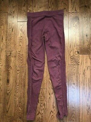 Girl's OLD NAVY Side Ruched Mauve Leggings Size XXL 16 EUC
