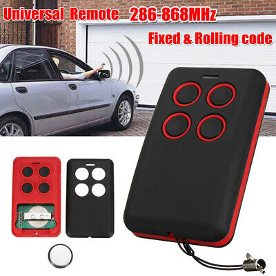 Universal 4-Button 286-868MHz Fits Fixed Rolling Code Garage Door Remote Grace