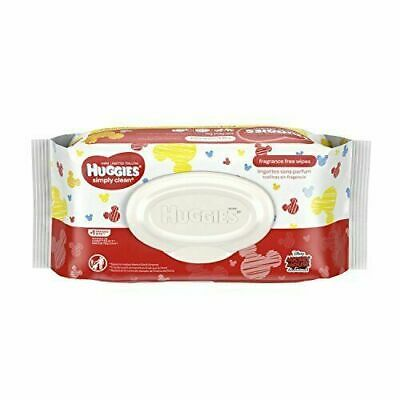HUGGIES Simply Clean Fragrance-Free Baby Wipes Soft Pack, 64 Count