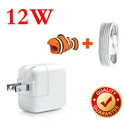 12W USB Wall Charger Power Adapter For iPad Mini 2 3 Air iPhone 6 7 8 Free cable