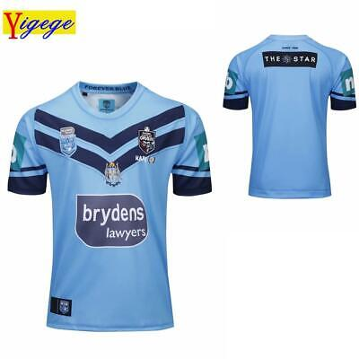 Mens S-5XL 2019 Blues State Of Origin NSW Jersey