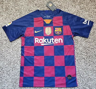 2019/20 FC Barcelona Lionel Messi Match Home Jersey Medium Large XL 2XL