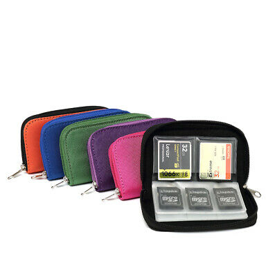 SD Card Organizer Storage Boxes Memory Card Zipper Carrying Case