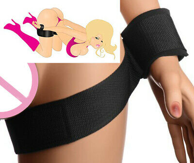 1Pair Adult Sex SM-Toys Handcuffs Cuffs Strap Whip Rope Neck Bandage Sexy Gam WC