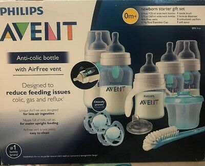 Philips Avent Baby Bottle Anti-Colic AirFree Vent Newborn Gift Set Blue SCD208/0