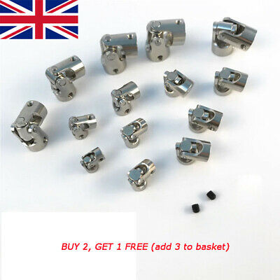 High quality Fine Plating Universal Joint DIY Multi Size Shaft Coupling WC UK WC