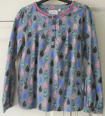 FAT FACE - Girls Long Cotton Tunic Floral Top  - Age 10 - 11 years - Once