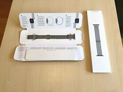 Orginal Apple Milanaise Loop Armband 40 mm (silber)
