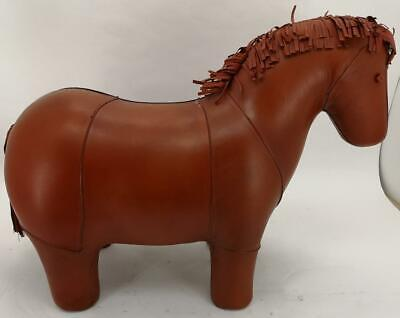 Large Handmade Genuine Leather Horse Stool Footstool - Length 69cm
