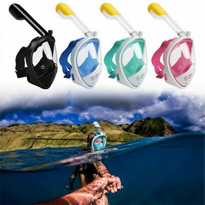 Kids Breath 180° View Full Face Snorkel Scuba Diving Mask Surface for GoPro