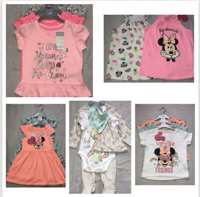 Disney Baby Girls Outfit Clothes Summer Spring Character Primark Infant Gift