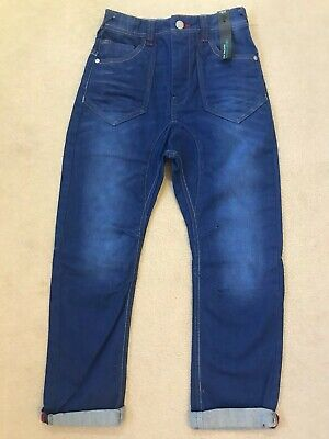 NEXT Boys Age 9 Years Drop Crotch Jeans Blue Adjustable Waist Brand New With Tag
