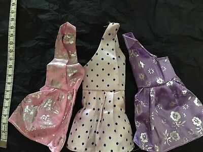 ON SALE GIRL GIFT@Popular Barbie Doll sized Cloth/Accessory@3 pc Fashion Dresses