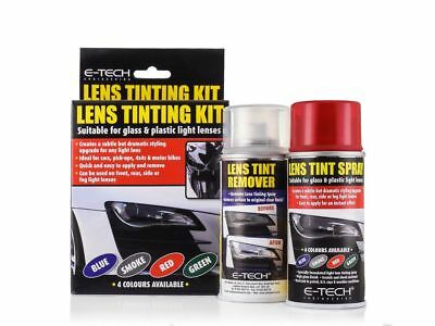 E-Tech Red Tint Car Headlight Lens Spray Kit Light Tuning Remover