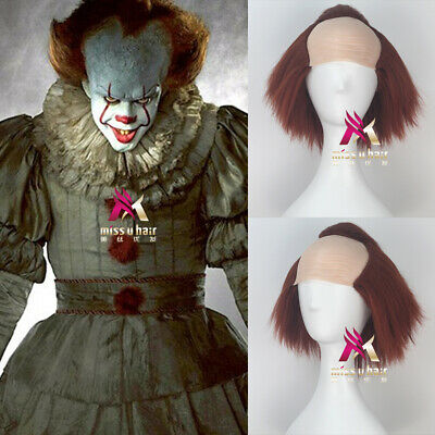 Stephen Kings It pennywise Short Straight Wine Color Halloween Party Cosplay Wig