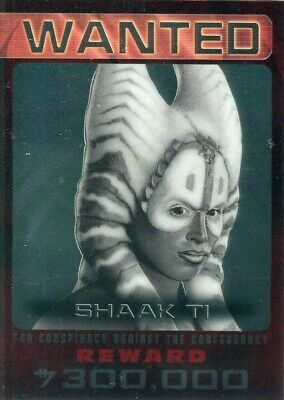 STAR WARS 2015 Chrome Perspectives Jedi vs Sith Wanted Card!!! #7 Shaak Ti Topps